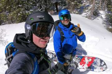 Huck Adventures Ben Nelson and Sean Sewell in the backcountry