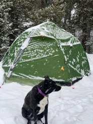 Chloe winter camping