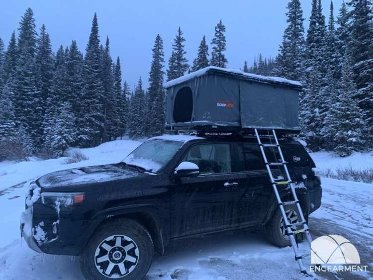 Roofnest Eagle Roof Top Tent in the snow