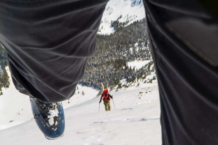 Aaron Rose on the boot pack - pic Evan Green