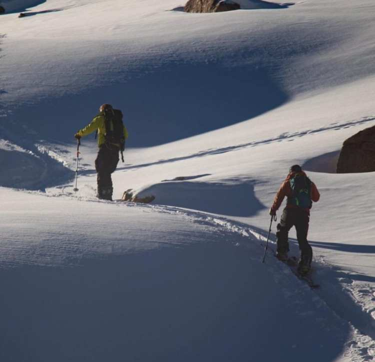 Black Diamond Recon BT Avy Safety Set - Josh Jesperson and Will Coleman touring in the backcountry