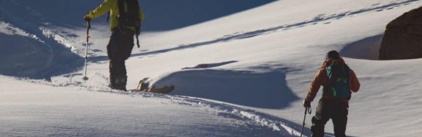 Josh Jesperson and Will Coleman touring in the backcountry