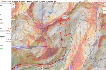 Up to date, UTM (1-kilometer grids), set your contours, scale, and slope angles. A handy tool.