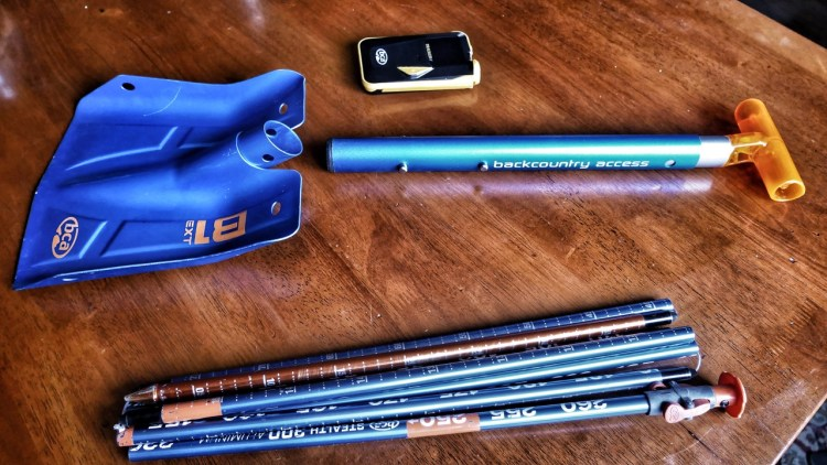 Backcountry Access' (BCA's) T4 Avalanche Rescue Package: Tracker 4, B-1 Ext Shovel & Stealth 270 Probe