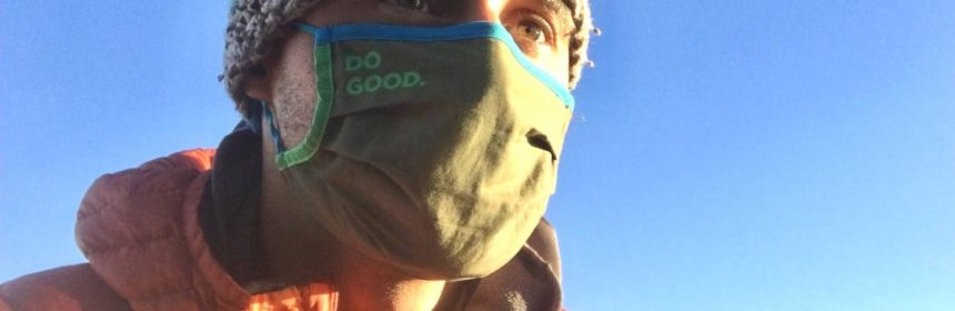 The Cotopaxi Teca Cotton Facemask