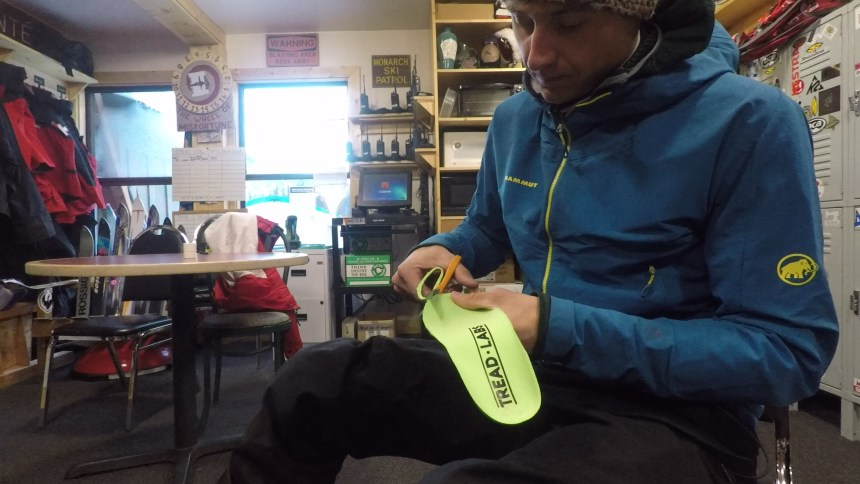 Trimming the Ramble Thin for use in my ski boot liner