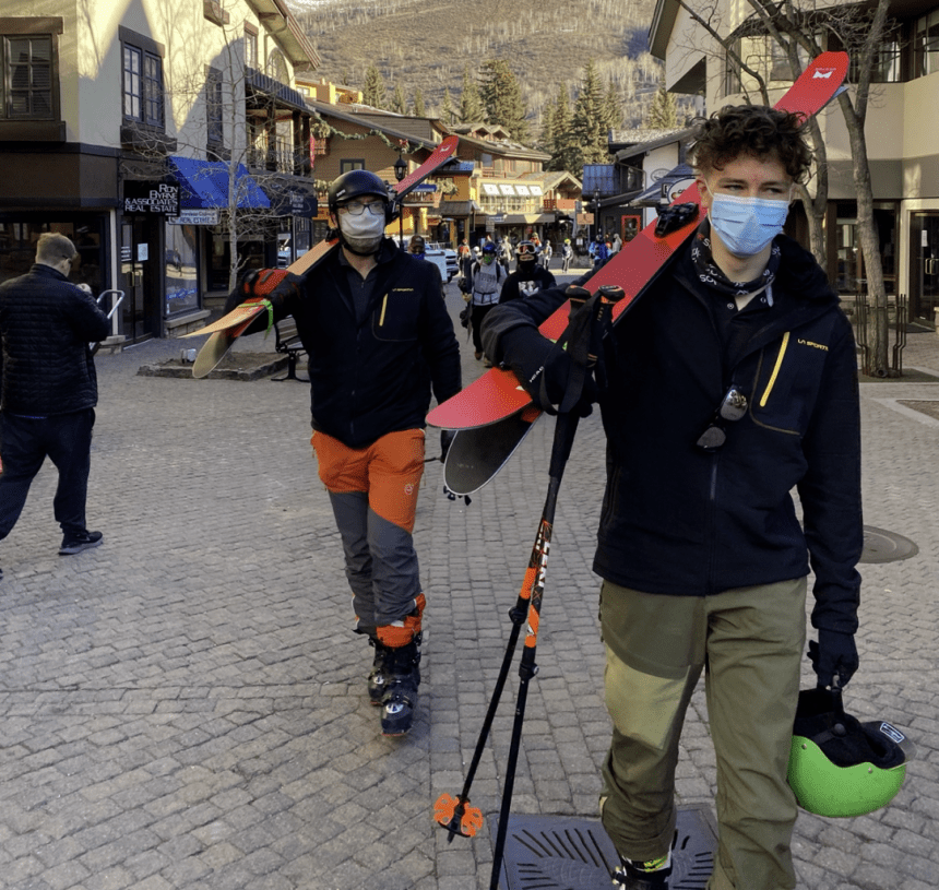 La Sportiva Avok Hoody - Gear testing dirtbags getting ideas above their station because their jackets look so fancy. Vail #wedontbelonghere photo by Michael Clemente