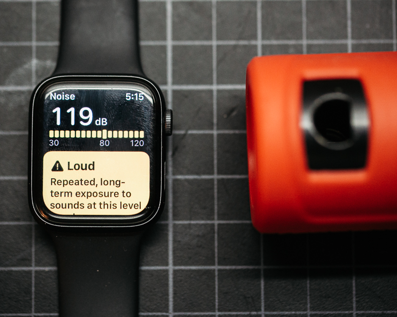 The ABUS 440A measures at 119 dB on the Apple watch. - James Terry - Engearment