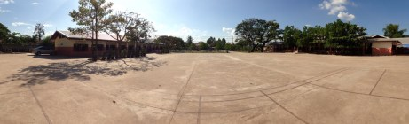 Panorama view on the school yard