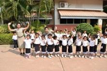 preschool children with their teachers