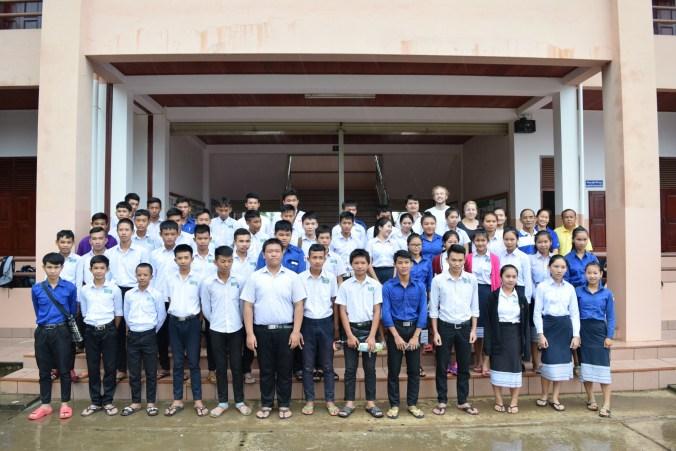 Die Interessenten der secondary school für eine berufliche Ausbildung - am 18. und 19. August fanden die Bewerbungsgespräche mit dem Lao-German Technical College in Phang Heng statt