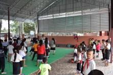 Die Karategruppe nutzt die Halle schon regelmäßig!