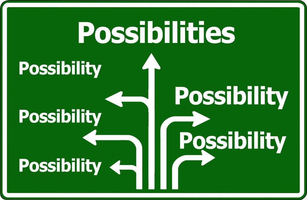placa com diferentes caminhos para possibilidades de demonstrar seu valor