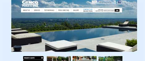 Genco Pools and Spas | Construction & Residential Web Design Greenville SC