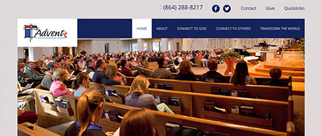 Advent UMC | Religious Web Design Greenville SC