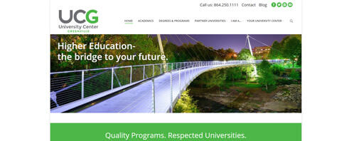University Center of Greenville | Education Web Design Greenville SC