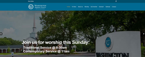 Washington Baptist Church | Religious Web Design Greenville SC
