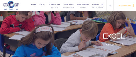 Carolina Prep School | Education Web Design Greenville SC