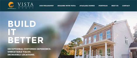 Vista Homes | Construction & Residential Web Design Greenville SC