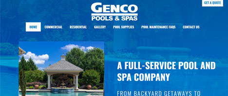 Genco Pools & Spas | Construction & Residential Web Design Greenville SC