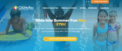 Greenville County Rec | Recreation Web Design Greenville SC