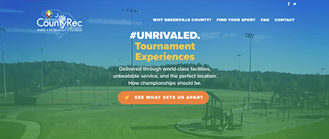 Greenville County Rec Sports Tourism | Recreation Web Design Greenville SC
