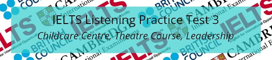 IELTS Listening Practice Test 3