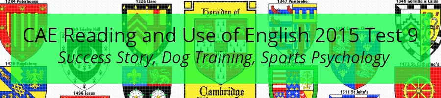 CAE Reading and Use of English Practice Test 2015