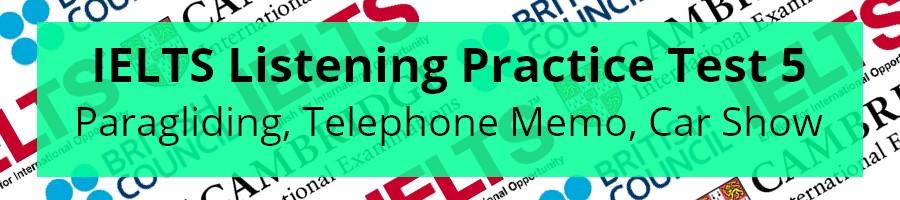 IELTS Listening Practice Test 5