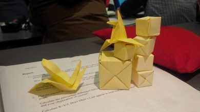 Origami During Class