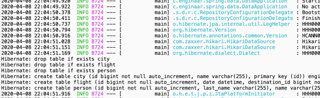 SQL query logs