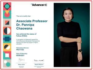 ขอแสดงความยินดีกับ รศ.ดร.พรรณนิภา เชาวนะ อาจารย์ประจำหลักสูตรปิโตรเคมีและพอลิเมอร์ ในโอกาสที่ได้รับประกาศนียบัตรรับรองในระดับ Fellowอ