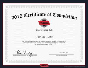KBS Certified Fitting Center