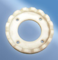 part machined from acetal stock shape