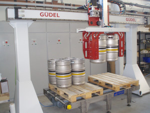 Güdel has a number of installations within the Beverage sector where high payloads are commonplace
