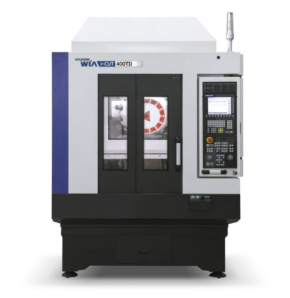 The iCut 400TD open-fronted, twin-pallet/dual table vertical machining/tapping centre