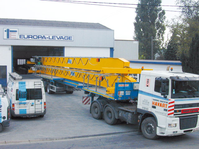 Europa-Levage, the one and only manufacturer of box-type overhead cranes in Wallonia