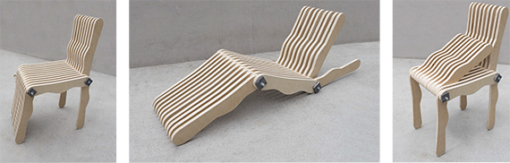 Team Lean's chair is reconfigurable. Photo courtesy of Team Lean.