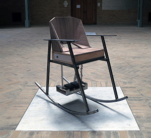 Volta's completed chair. Photo courtesy Jessica Chiu.