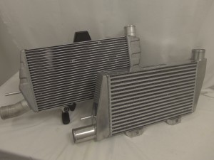 OEM intercooler and current Mishimoto Evolution X intercooler