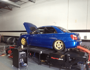 2004 WRX w/ JDM engine swap on dyno