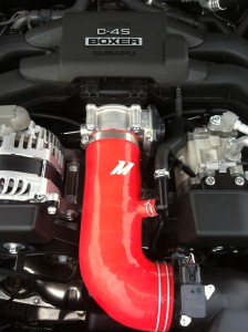 Mishimoto BRZ/FR-S induction hose fully installed