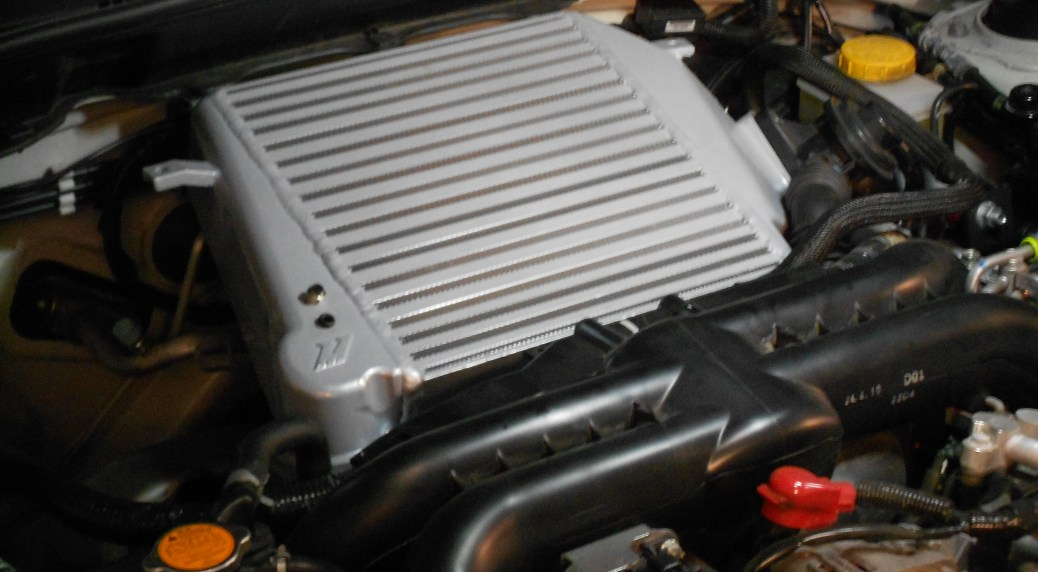 Mishimoto 2008–2014 WRX Intercooler installed