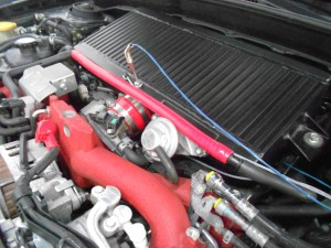 Mishimoto intercooler with sensor installed