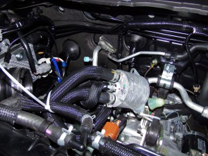 WRX stock liquid-to-liquid CVT cooler