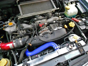 Stock Bugeye engine bay