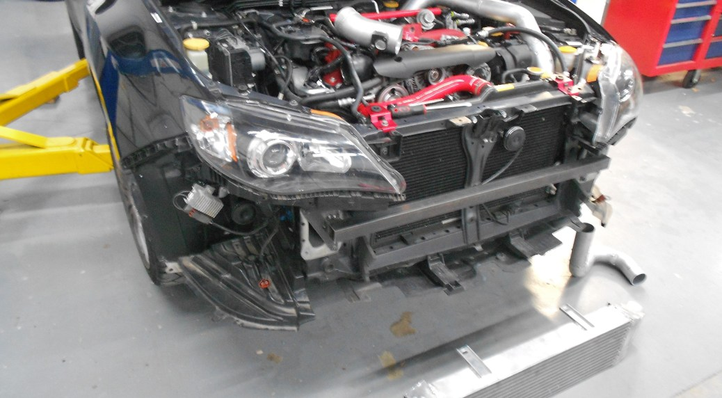Mishimoto bumper beam fabrication and prototype cooler