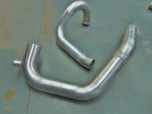 GR STI completed prototype intercooler pipes