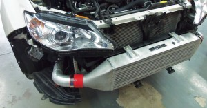 Mishimoto prototype intercooler installed on GR WRX