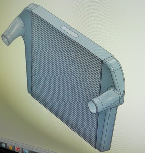 Mishimoto intercooler 3D rendering